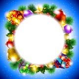Fundo do Natal com espaço para o texto ilustração do vetor
