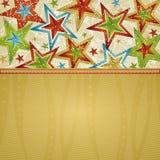 Fundo do Natal com estrelas Fotografia de Stock Royalty Free