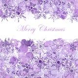 Fundo do Natal com floco de neve Imagem de Stock