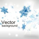 Fundo do Natal com flocos de neve ilustração stock