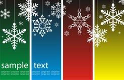Fundo do Natal com flocos de neve Fotografia de Stock