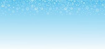 Fundo do Natal com flocos de neve Fotos de Stock Royalty Free