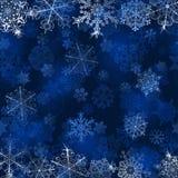 Fundo do Natal com flocos de neve Fotografia de Stock Royalty Free