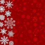 Fundo do Natal com flocos de neve de papel Fotografia de Stock Royalty Free