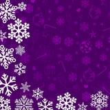 Fundo do Natal com flocos de neve de papel Imagens de Stock