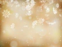 Fundo do Natal com flocos de neve Eps 10 ilustração royalty free