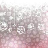 Fundo do Natal com flocos de neve. EPS 8 Imagens de Stock