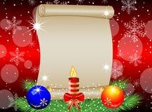 Fundo do Natal com a folha de papel, ramos verdes e Foto de Stock Royalty Free
