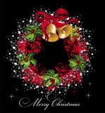 Fundo do Natal com grinalda Imagens de Stock Royalty Free