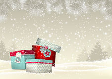 Fundo do Natal com grupo de colorido Foto de Stock Royalty Free