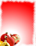 Fundo do Natal com ornamento foto de stock royalty free