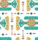 Fundo do Natal com ornamento geométrico, teste padrão sem emenda Imagens de Stock Royalty Free