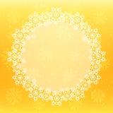 Fundo do Natal com os flocos de neve redondos brancos Imagens de Stock
