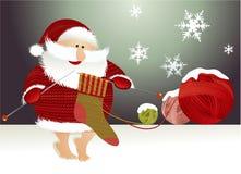 Fundo do Natal com Papai Noel Fotografia de Stock
