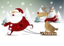 Fundo do Natal com Papai Noel Imagem de Stock