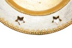 Fundo do Natal com placa dourada Imagem de Stock
