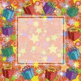 Fundo do Natal com presentes Imagens de Stock