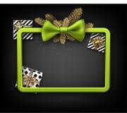 Fundo do Natal com presentes e curva verde Imagem de Stock Royalty Free