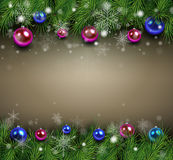 Fundo do Natal com ramos do abeto Imagens de Stock