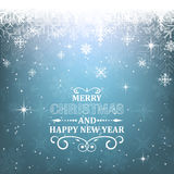 Fundo do Natal com título e efeito da luz decorativos ilustração do vetor
