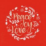 Fundo do Natal com a tipografia, rotulando ilustração do vetor