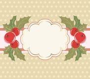 Fundo do Natal com um frame. ilustração stock