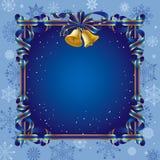 Fundo do Natal com um sino Imagens de Stock