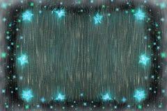 Fundo do Natal com uma festão de luzes azuis ilustração stock