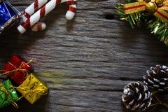 Fundo do Natal Configuração lisa com espaço da cópia fotografia de stock