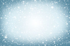 Fundo do Natal Céu, flocos de neve e estrelas do inverno Imagens de Stock Royalty Free