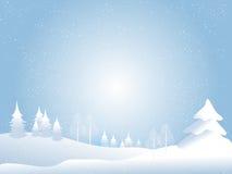 Fundo do Natal da neve Fotos de Stock