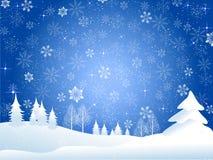 Fundo do Natal da neve Fotografia de Stock