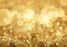 Fundo do Natal das luzes e das estrelas de Twinkley Imagens de Stock