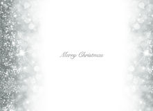 Fundo do Natal de Bokeh com brilho de prata Imagens de Stock