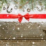 Fundo do Natal de brilho nevado ou do ano novo foto de stock