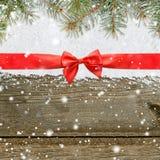 Fundo do Natal de brilho nevado ou do ano novo Fotografia de Stock