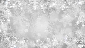 Fundo do Natal de flocos de neve borrados ilustração do vetor