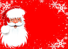 Fundo do Natal de Papai Noel Fotos de Stock