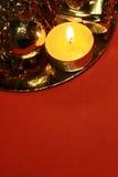 Fundo do Natal de Red&gold Imagem de Stock Royalty Free