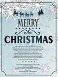 Fundo do Natal de Snowlfake Fotografia de Stock