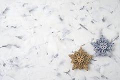 Fundo do Natal Decoração da estrela do Natal, cartão do Natal Fotos de Stock Royalty Free