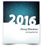 Fundo do Natal do céu noturno e do ano 2016 Imagem de Stock Royalty Free