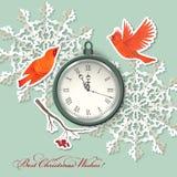 Fundo do Natal do elemento do álbum de recortes Imagem de Stock