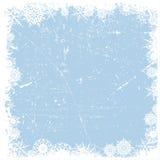 Fundo do Natal do floco de neve de Grunge Imagem de Stock Royalty Free