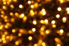 Fundo do Natal do ouro Imagens de Stock