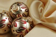 Fundo do Natal do ouro Imagens de Stock Royalty Free
