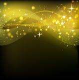Fundo do Natal do sumário do Natal do ouro Fotografia de Stock