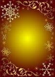 Fundo do Natal do vintage com flocos de neve ilustração stock