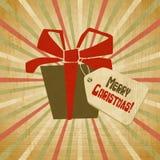 Fundo do Natal do vintage do vetor no estilo retro Imagem de Stock Royalty Free