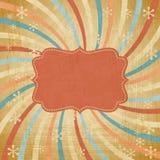 Fundo do Natal do vintage do vetor no estilo retro Imagens de Stock